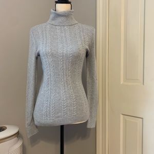 NWT Talbots Grey Ribbed Turtleneck Sweater